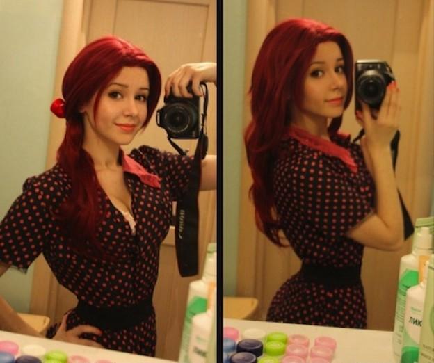 lucky fat guy fucks hot big tittied teen #SuicideGirl #annalee #awesome #redhead #striptease