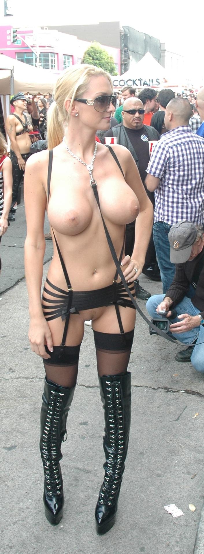 Submissive Readytobeused Piercednipples Collar Leash