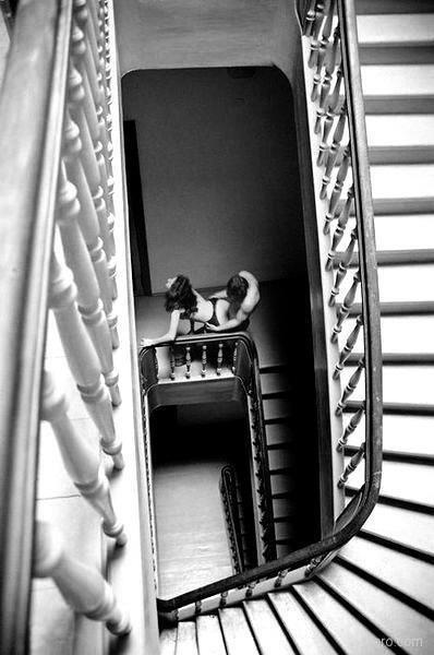 bdsm fetish erotic bondage plaster cast body #blackandwhite #artistic #erotic #couple #publicsex #stairs #stairwell
