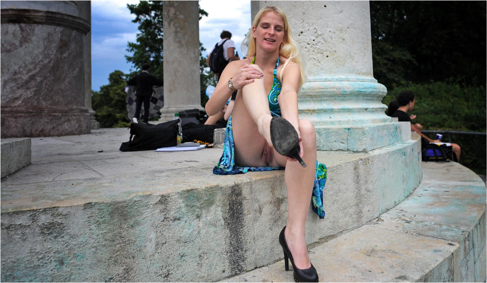 feminization sissy crossdressing porn tube video #blonde #public #flashing #pussy #white #legs #shoes #fetish #flashingpublic #shaved