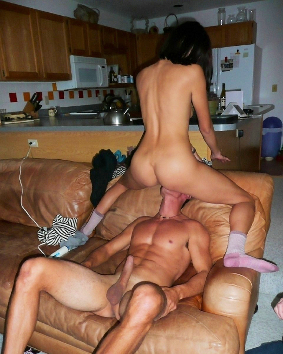 cute amateur couple hard pegging session with big strapon