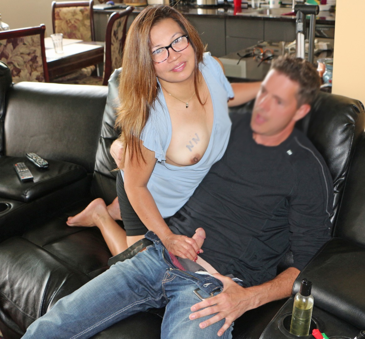 brandi belle cum in mouth please On a first date! #titout #glasses #handjob #couple #asian #filipina #sarah654